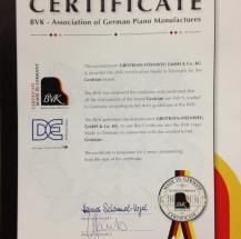 ドイツピアノ製造協会が新しい認証制度を導入!