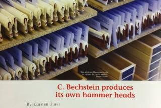 ベヒシュタインが自社工場にてハンマーヘッドの製作を開始  記者:カーステン デューラー -2 輸入ピアノ BECHSTEIN