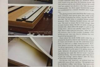 ベヒシュタインが自社工場にてハンマーヘッドの製作を開始 -3 輸入ピアノ BECHSTEIN