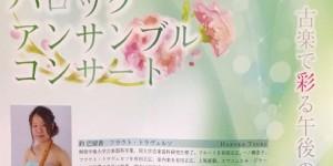 音降りそそぐ武蔵ホール バロック アンサンブル コンサート 2019.5.12