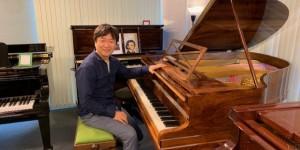 太田太郎さんが10月13日リサイタルのリハーサルに来てくれた。